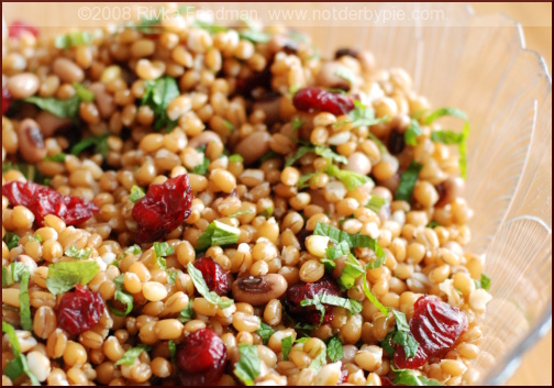 Wheatberry Salad with Cranberries, Feta, and Mint